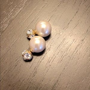 Kate Spade Reversible Pearl and Crystal Earrings